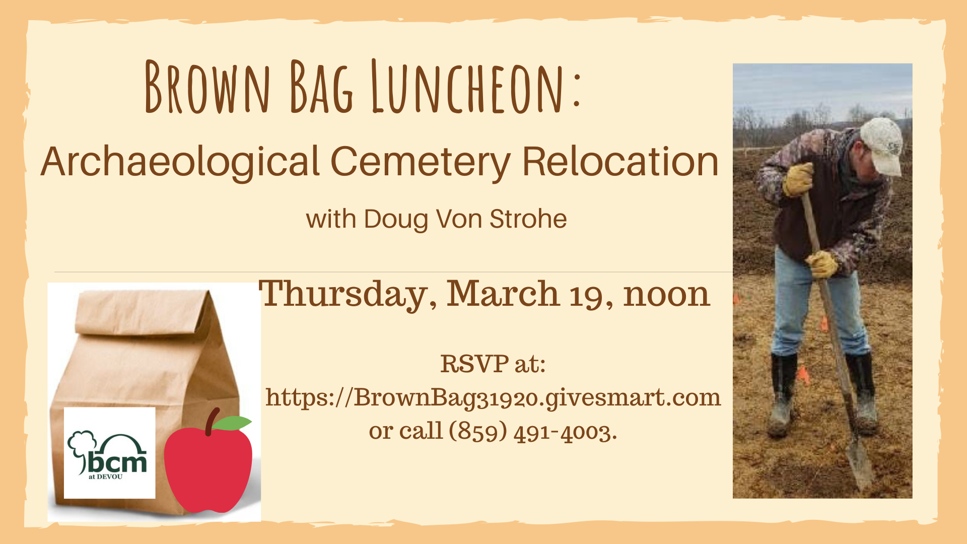 Brown Bag Luncheon Archaeological Cemetery Relocation 1